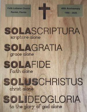 Five-Solas-plaque
